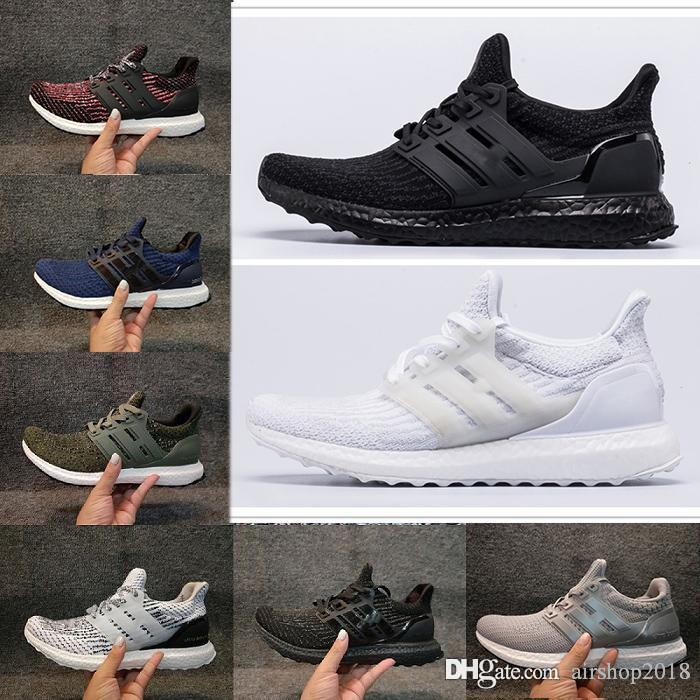 more photos 84b96 fc554 Ultraboost Clima 3 0 4 0 Casual Shoes Core Triple Black White Ultra Boosts  Runner Men Women Leisure Trainers Sport Sneakers size 5-11 132
