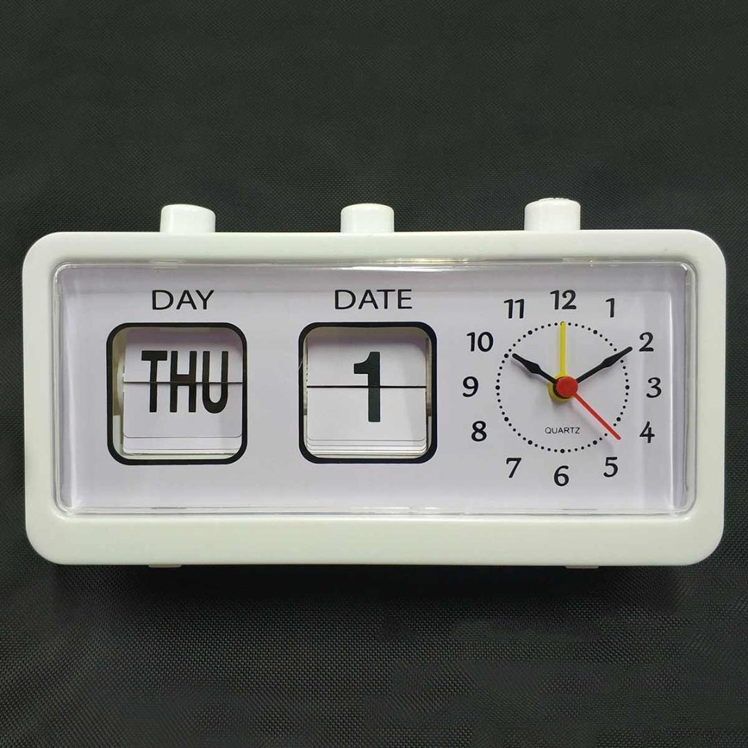 9adb0b0b6cb Compre Flip Clock Vintage Decorativo Quarto Retro Flip Down Relógio Data  Hora Auto Página Relógios De Mesa Relógio De Mesa Do Estudante De Fair2015