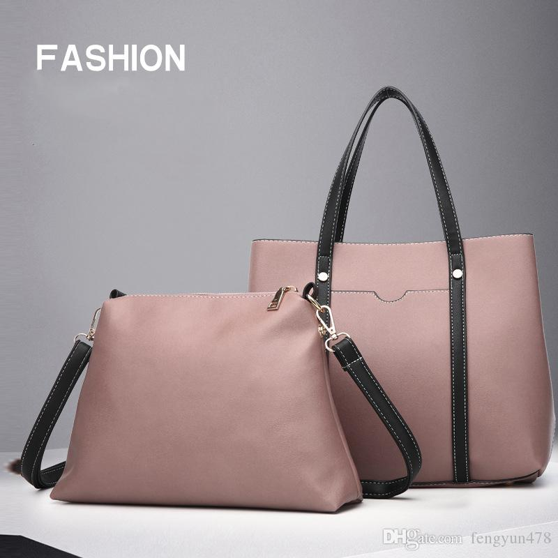 ff8cd1a4711 2019 Luxury Handbags Women Bags Designer Brand Shoulder Bags Large Capacity Ladies  Tote Leather Messenger Bag Composite Bag Crossbody Red Handbags Pink ...
