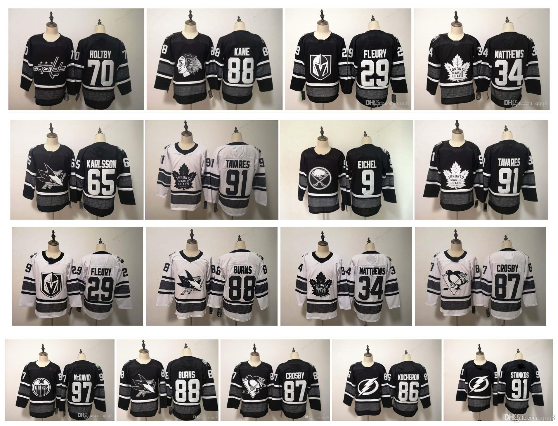 2019 2019 All Star Game NHL Jersey Karlsson Sidney Crosby Jack Eichel  Connor McDavid John Tavares Marc Andre Fleury Patrick Kane Matthews Hockey  From Qqq8 86e694f92