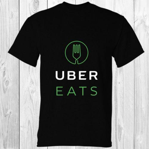 Uber EATS The Food Delivery Black T-shirt S - 5XL Men Women Unisex Fashion  tshirt Free Shipping