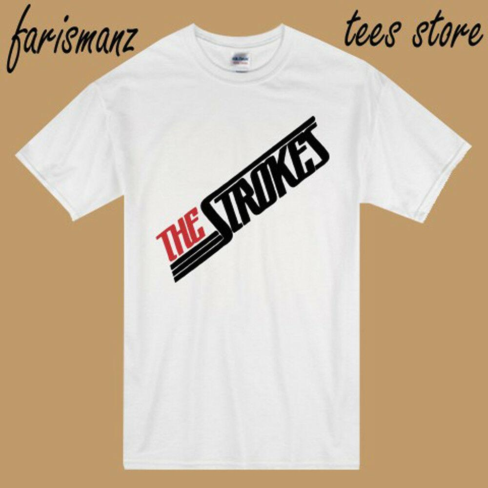 f090d29f448d New The Strokes Band Rock Band Logo Men'S White T Shirt Size S 3XL ...
