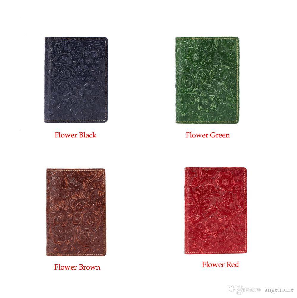 81eedb7121dd Leather Passport Cover - Retro Womens Mens Passport Holder Bag Travel ID  Credit Card Holder Case 10 Colors