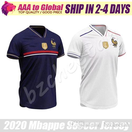 best loved 7193c 35af5 Kylian Mbappe jersey 2020 Two-Stars Home Griezmann Giroud Umtiti Dembele  Kante Pogba Soccer jersey Sports wear Football jerseys