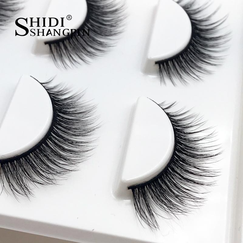 1587e62a9de SHIDISHANGPIN Long Mink Eyelashes Fake Eye Lashes Make Up Hand Made 3d Mink  Lashes Soft Lash Volume Eyelash Extension How To Put On False Eyelashes ...