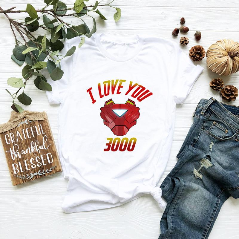 I Love You 300 Print Woman Tshirt Designer VOVA Summer Donna Tees Fashion Casual Lady Top