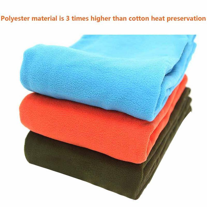 Outdoor Fleece Sleeping Bag Camping Trip Air Quilt Liner Warm 3 Season For Travel Camping Lunch Break Knee Blanket Sleeping Bags Sleeping Bags