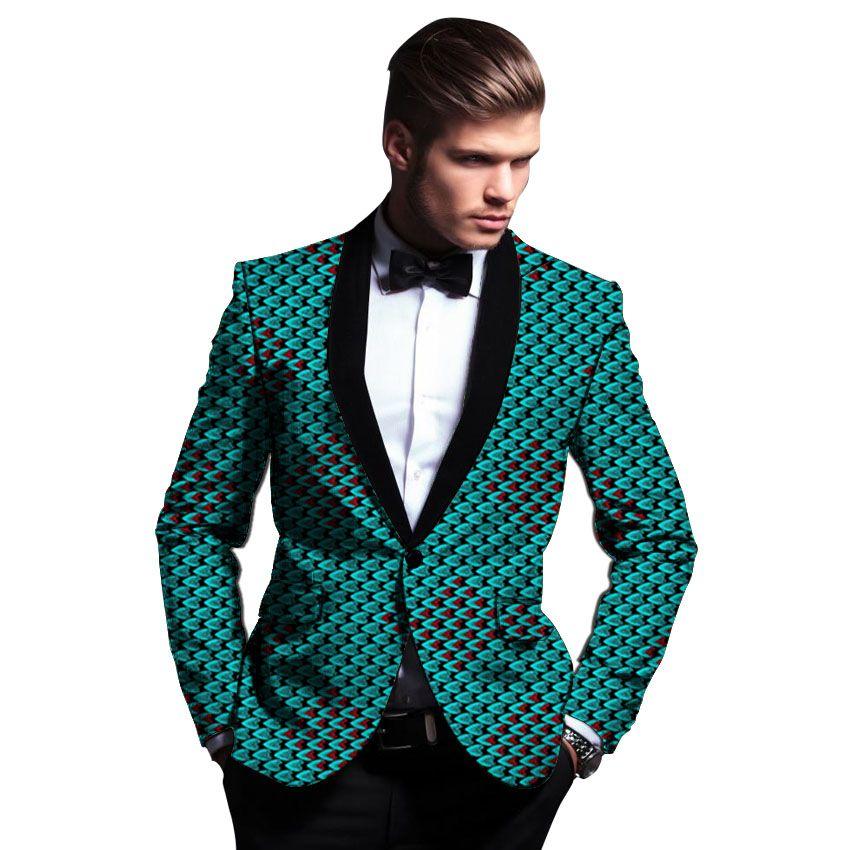 98cca2dcab Compre Africano Roupas Masculinas De Impressão Blazers Ankara Xale Gola  Terno Casacos Personalizados Para O Casamento Desgaste Casual Masculino  Jaqueta ...