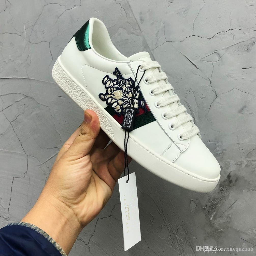 4f4ba91e0419 Fashion Luxury Designer Women Shoes Ace Sneaker With Three Little Pigs Web  Casual Shoes Dolce For Woman Size 35 40 Indoor Soccer Shoes Oxford Shoes  From ...