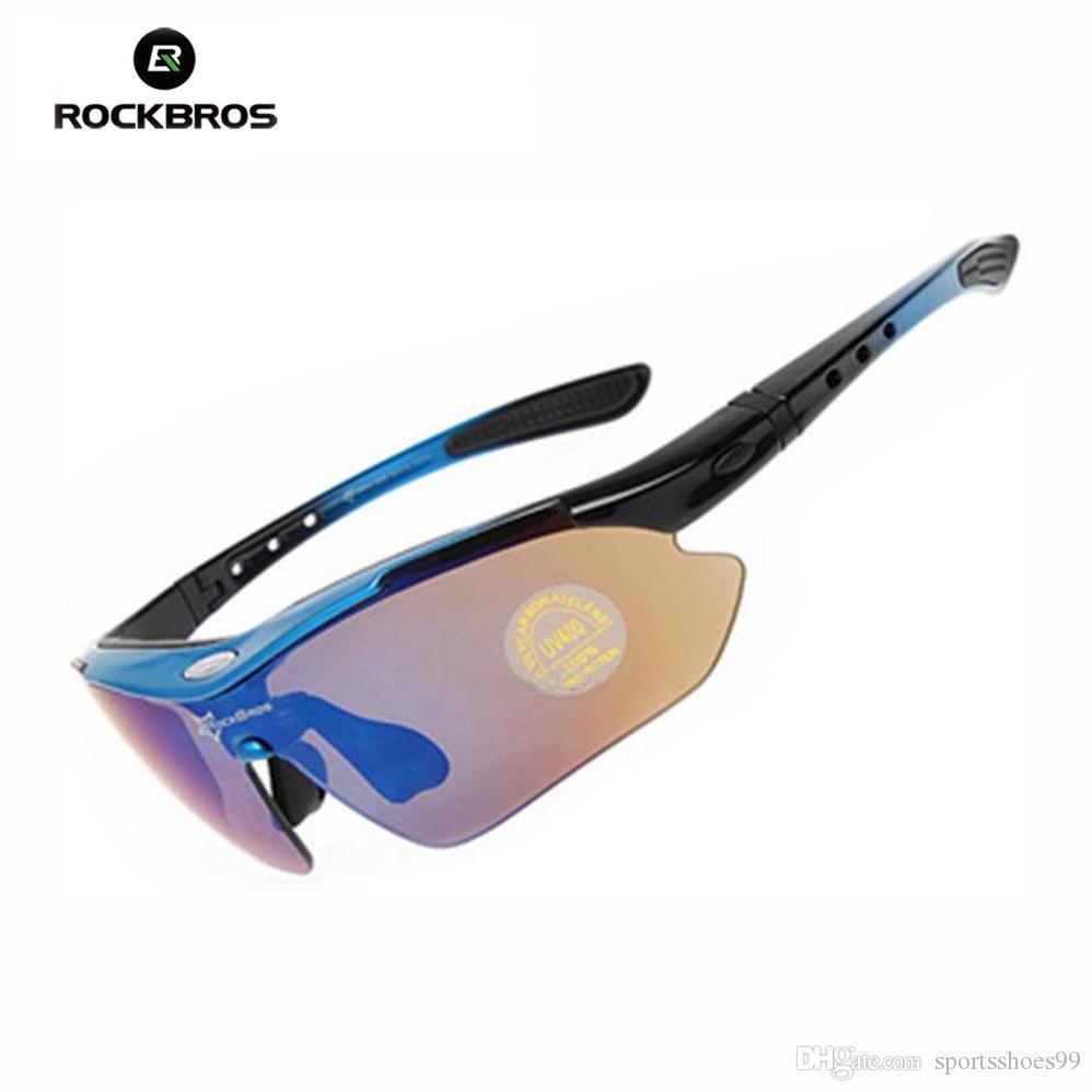 a8e71eb6e1 RockBros Polarized TR90 Bicycle Clismo Bike Sunglasses Cycling Sun Glasses  Outdoor Sports Goggles Eyewear 5 Lens 10001  214601 Amber Outdoor Eyewear  Poly ...