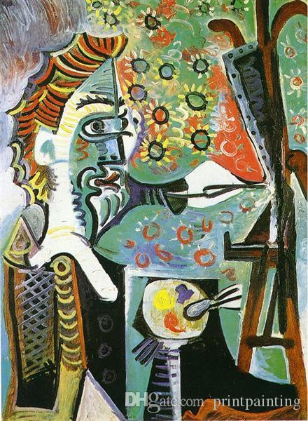 Pablo Picasso Classical Oil Painting An Artist Le Peintre Surrealism 100% Handmade By Experienced Painter On White Canvas Picasso037