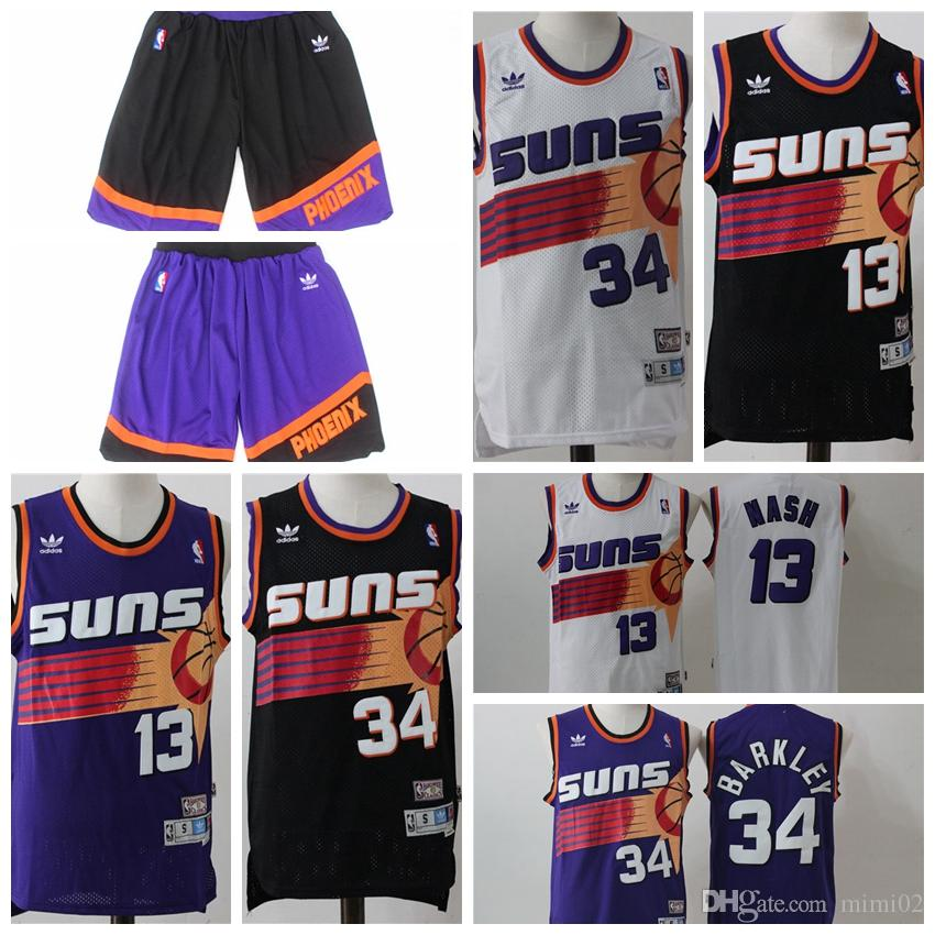 c3bb3c6d 2018 Mitchell & Ness 13 Steve Nash 34 Charles Barkley Phoenix Mens Suns  1996 97 Throwback Authentic Home Basketball Jersey T Shirt Site Online Tees  From ...
