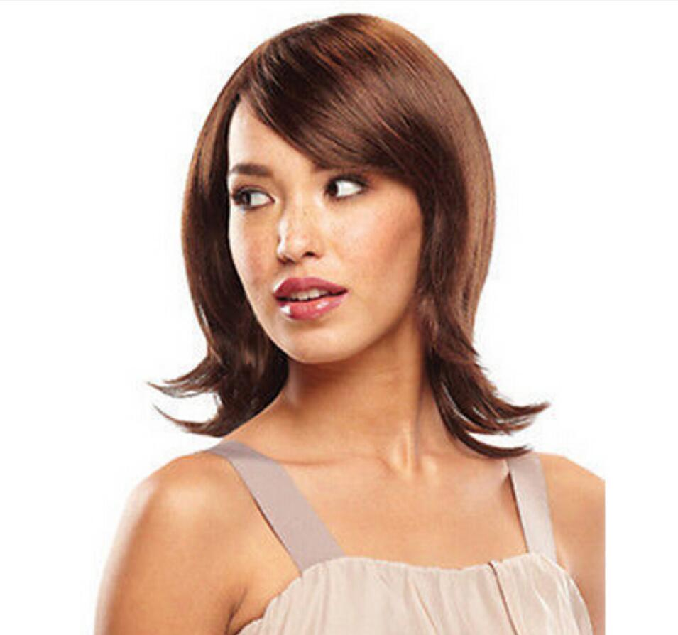 Wig vogue fashion short light brown anti alice stylish womens wig Natural Kanekalon no lace Hair wigs Free Shipping