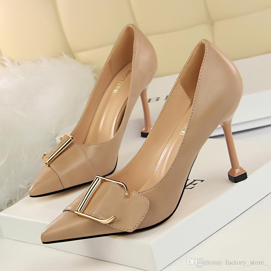 e85188c65ff Office Shoes Women Stiletto Pumps Women Shoes High Heel Black Heels ...