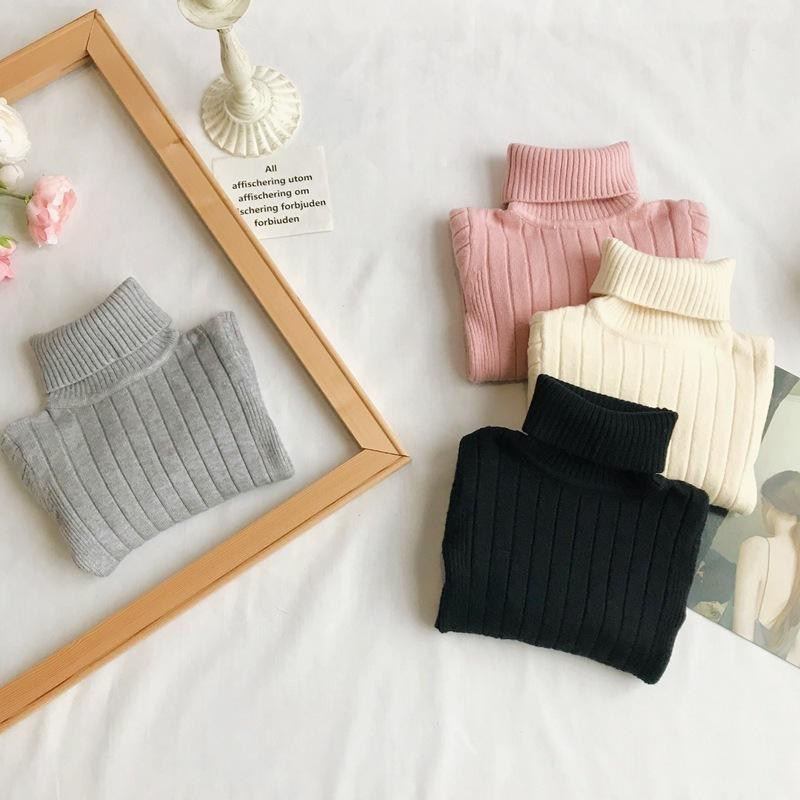 ff68f5a71 Toddler Girls Pullover Sweater Turtleneck 2019 Winter Warm Baby Boys  Sweaters Angora Knit Pullover Baby Kids Outerwear Clothing Baby Pullover  Sweater ...