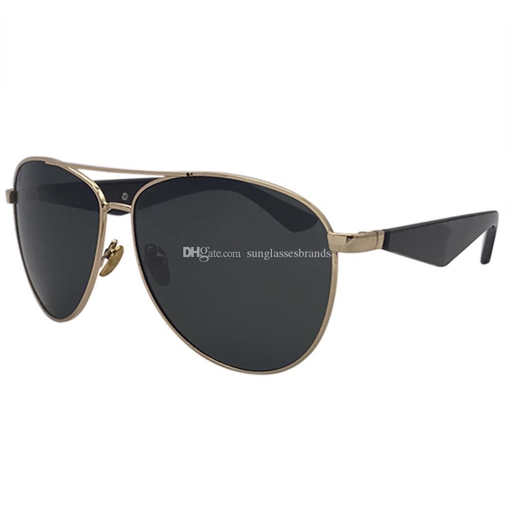 5d253b249c3df Compre KUPNEPO Mens Moda De Luxo Polarizada Marca Designer Óculos De Sol 10  PRA45 Óculos De Armação Dourada Lente Preta Navio Rápido Frete Grátis PRA48  De ...