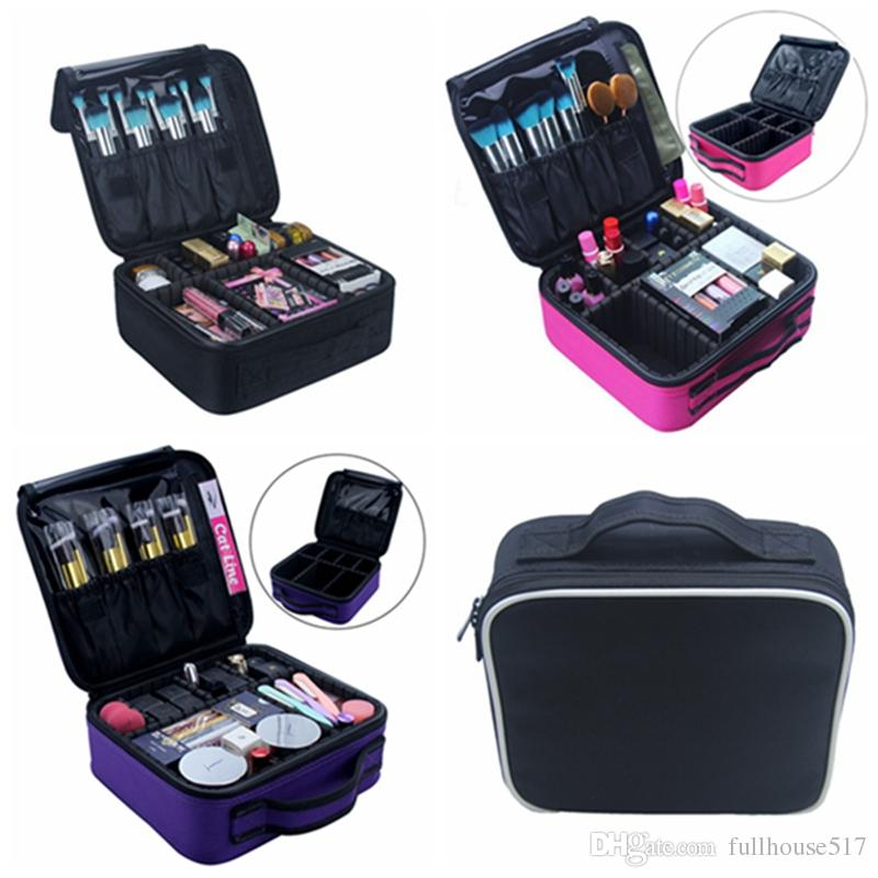 2019 Portable Travel Makeup Case Organizer Travel Bag Cosmetic Train Case  For Women Makeup Brush Storage Box Toiletry Organizer Tool From  Fullhouse517 4e838fd622e3f