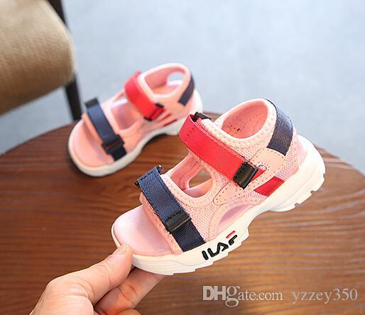 9bd3ac9e3 Girls Brands Summer Sandals Children Soft Sole Beach Sandals 1 5 Years Old Baby  Anti Slip Cozy Cute Shoes Kids Shoe Toddler Boots Boys From Yzzey350