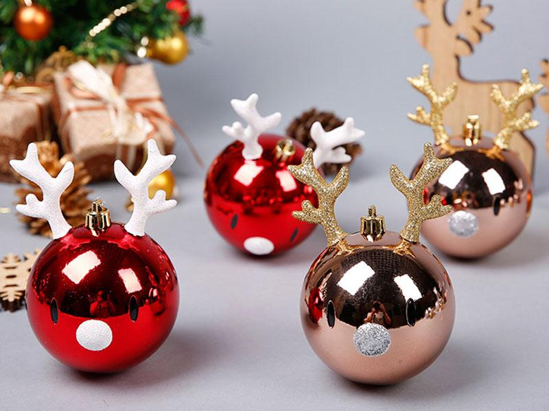 8 12cm Christmas Tree Decorations Ball Reindeer Star Gingerbread Man Christmas Ball Pendant Give Your Child A Lovely Gift