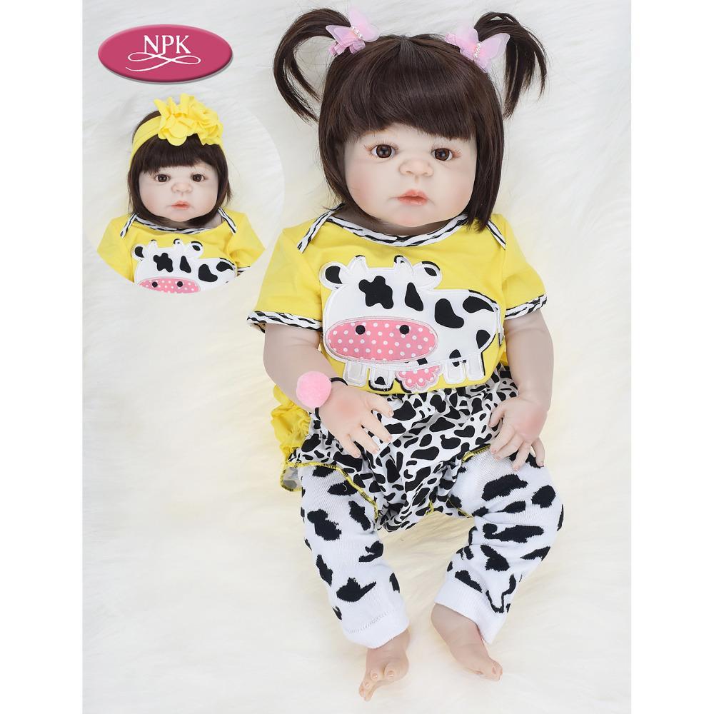 b8d3e3aae NPK 57CM Full Body Silicone Lifelike Real Girl Reborn Baby Doll Toys  Lifelike Babies Princess Bathe Toy Doll Bebe Reborn Bonecas Novelty Market  Novelty ...