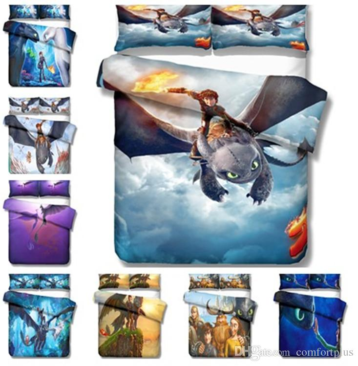 How To Train Your Dragon Design Bedding Set 2PC/3PC Duvet Cover Set Of Quilt Cover & Pillowcase