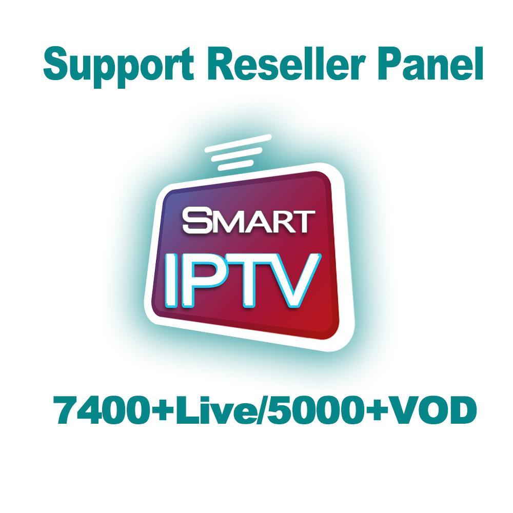 7400 TV Abonnement Live IPTV 5000 VOD Iptv Subscrição França Árabe Italiano  Turkic Alemanha Portugal Para Android TV Box M3u Smart TV PC