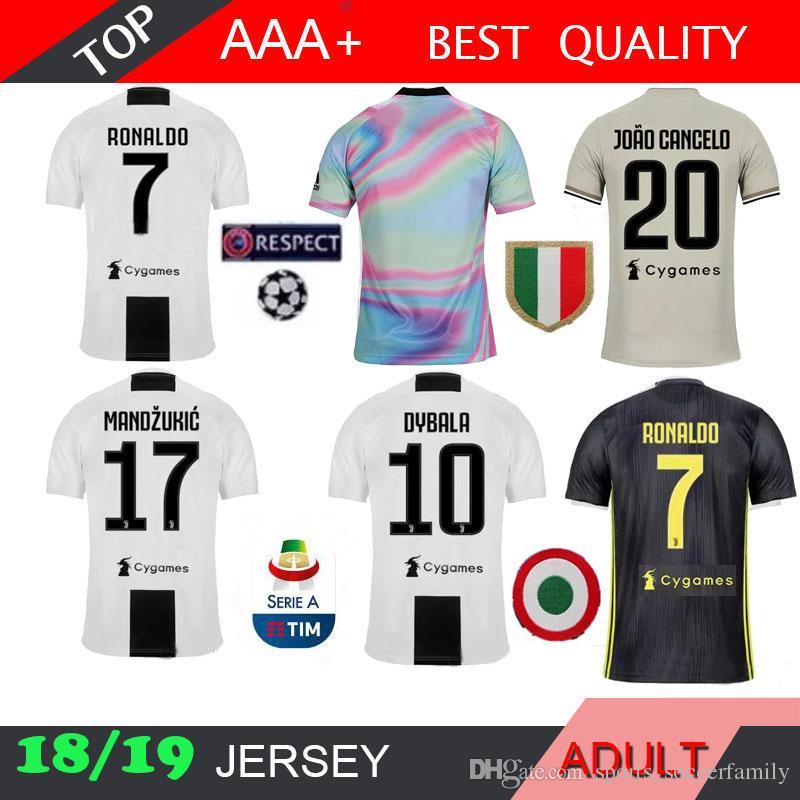 fb0394076 2019 RONALDO New 2019 Juventus Soccer Jersey 18 19 2018 Home BLACK Away 3RD  DYBALA HIGUAIN FMARCHISIO Ootball Shirt CRISTIANO MANDZUKIC D. Costa From  ...