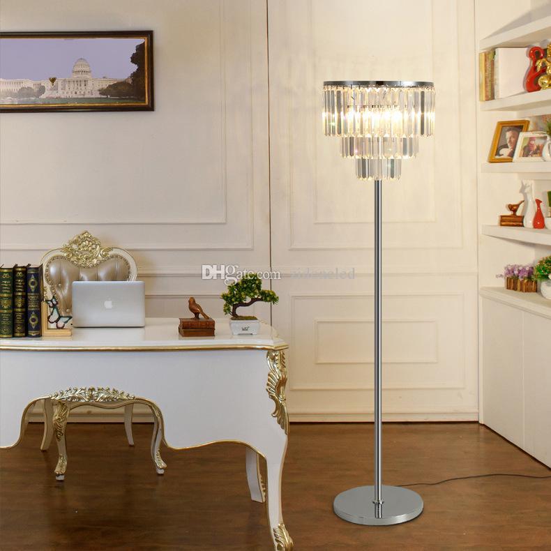 2019 Luxury Crystal Floor Lamp Bedroom Simple Modern Study Led Floor ...
