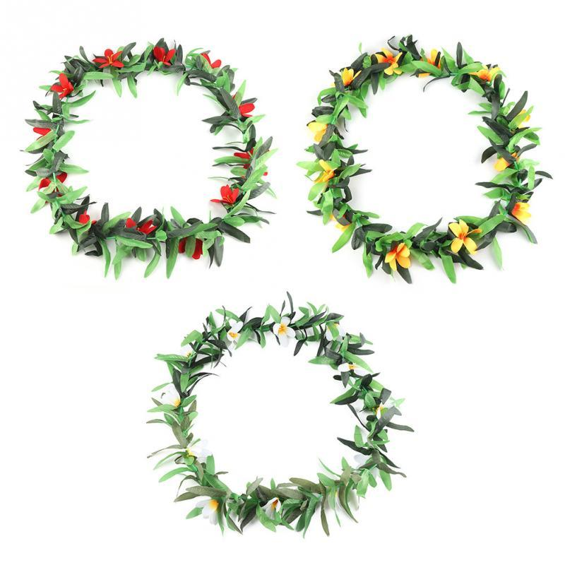 Party artificial plants Leaf Garland Necklace Summer Party Wreaths Garland For Tropical Beach Theme Favors