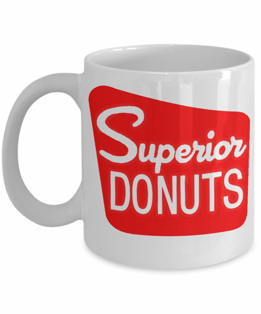 Superior Donuts Coffee Shop Inspired White Coffee Mug Tv Comedy Series