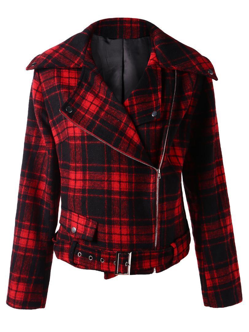 1a0159d0f52b6 Wipalo Plus Size Jacket Slim Plaid Lamb Jacket Coat Women Winter 2018  Autumn Coat Female Casual Zipper Overcoat Outwear Bomber Jacket Coat From  Harrvey