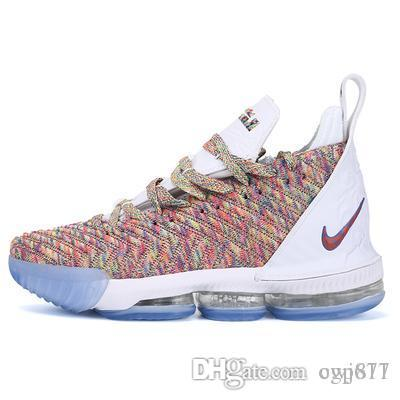 the latest a49ff 98b99 2019 new Lebron 16 Basketball Shoes Arrival Sneakers Lebron 16 LBJ16 Mens  Casual King James multicolor sports shoes LBJ EUR 40-46