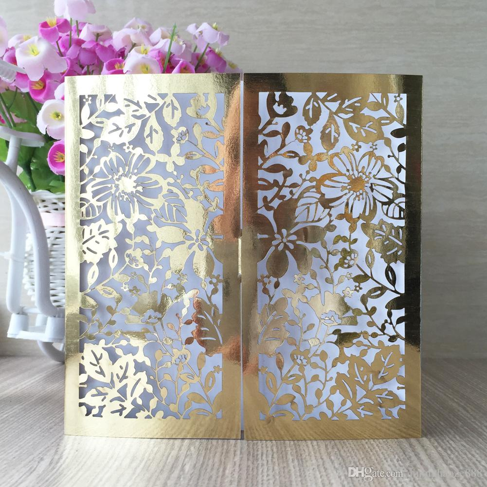 30Pcs / lot Comely Garden Design Carta dell'invito di cerimonia nuziale Exquisite Envelop Supply To Benediction Cute Cards Inviti per feste