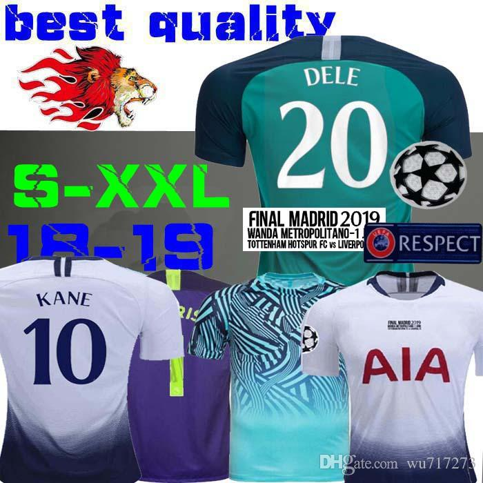 60d29a9a9 2019 18 19 Champions League Final Madrid Soccer Jerseys Spurs M ...
