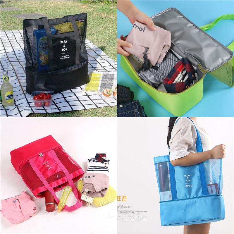 Women Shoulder Handbags Outdoor Sports Storage Bags Mens Travel Picnic Backpack Double Layer Thermal Insulation Ice Bags Pouches Hot A41505