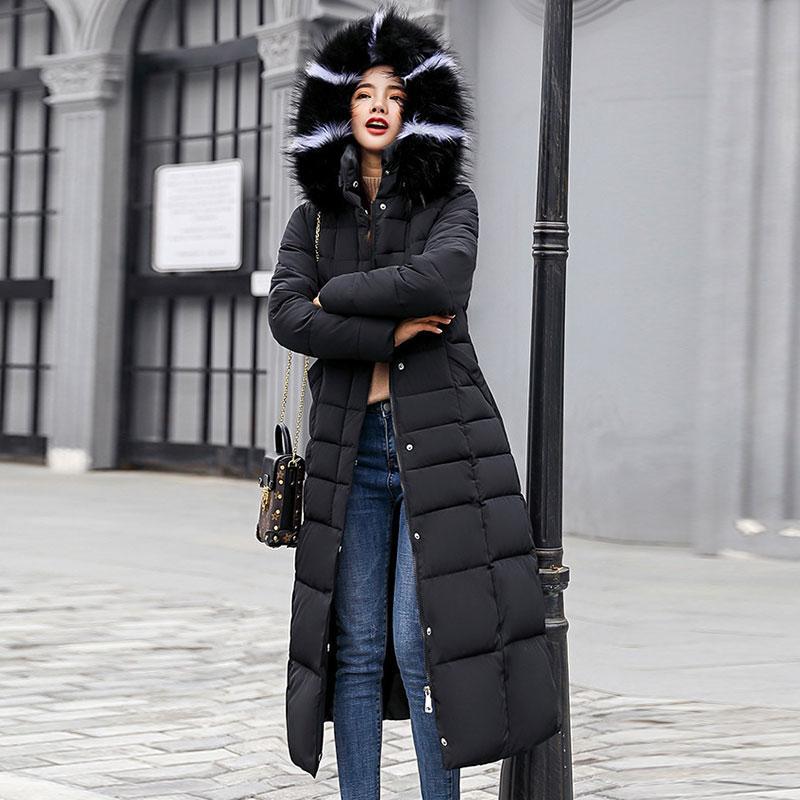 d6116c0c2a6 Women 6 Colors 3XL Oversized Long Parka Fur Snow Long Jacket Russian Winter  Coats Ladies Thick Hooded Parka Femme Outwear Female