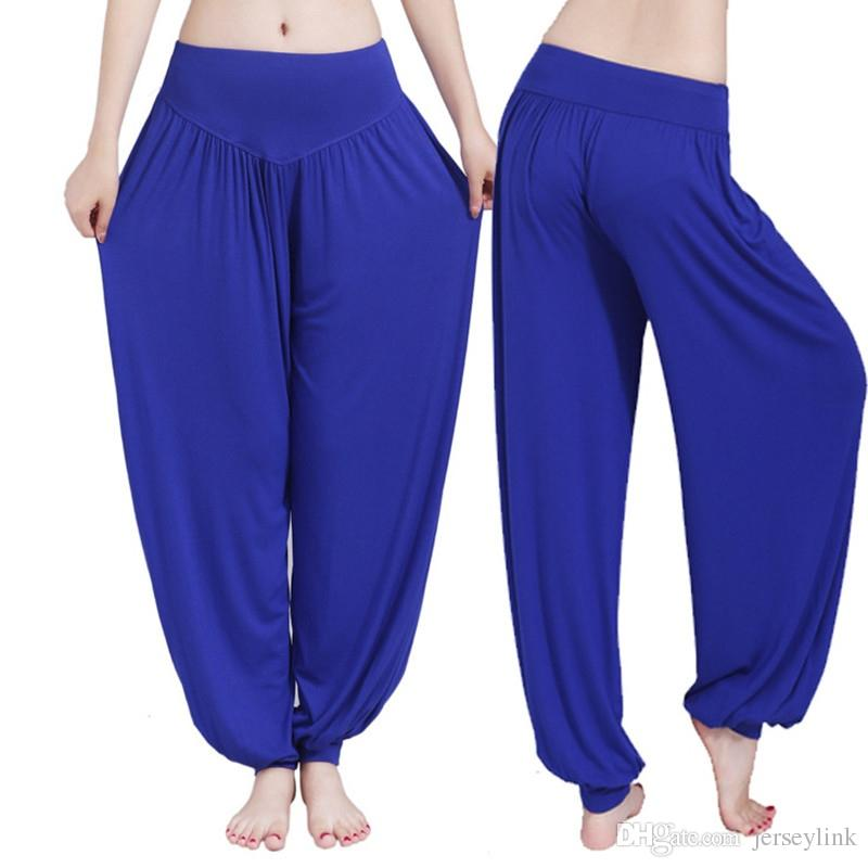 fd909aae77 2019 Women Yoga Pants Women Plus Size Yoga Leggings Colorful Bloomers Dance  TaiChi Full Length Pants Modal Clothes #19983 From Jerseylink, $28.21 |  DHgate.