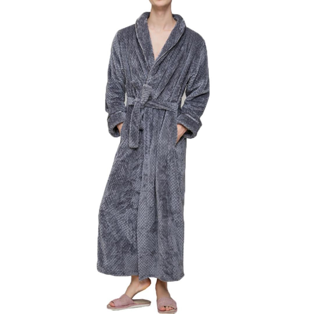 1f6285b274 Women men thick warm long flannel bathrobe big size kimono bath jpg  1080x1080 Long flannel robes