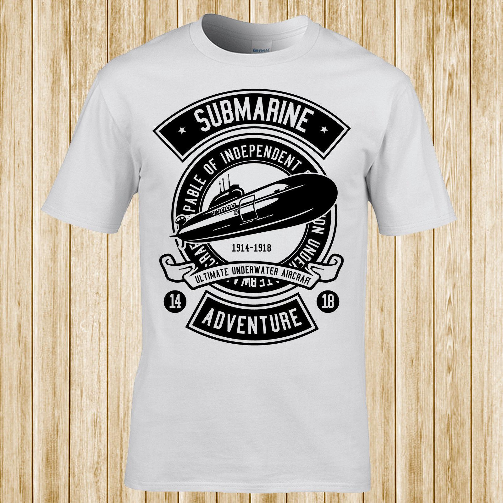 fd5f3a56 Submarine t-shirt Streetwear Funny Print Clothing Hip-Tope Mans T-Shirt  Tops Tees High Quality For Man Better
