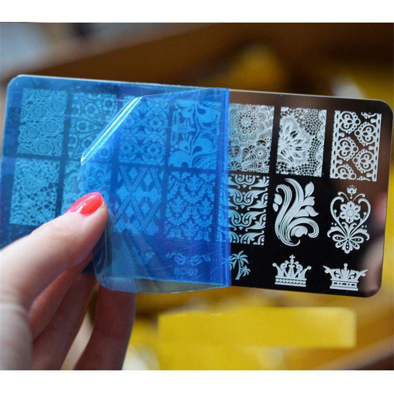 10 дизайн красивый DIY трафарет ногтей печать изображения штамповка плиты маникюр шаблон инструмент