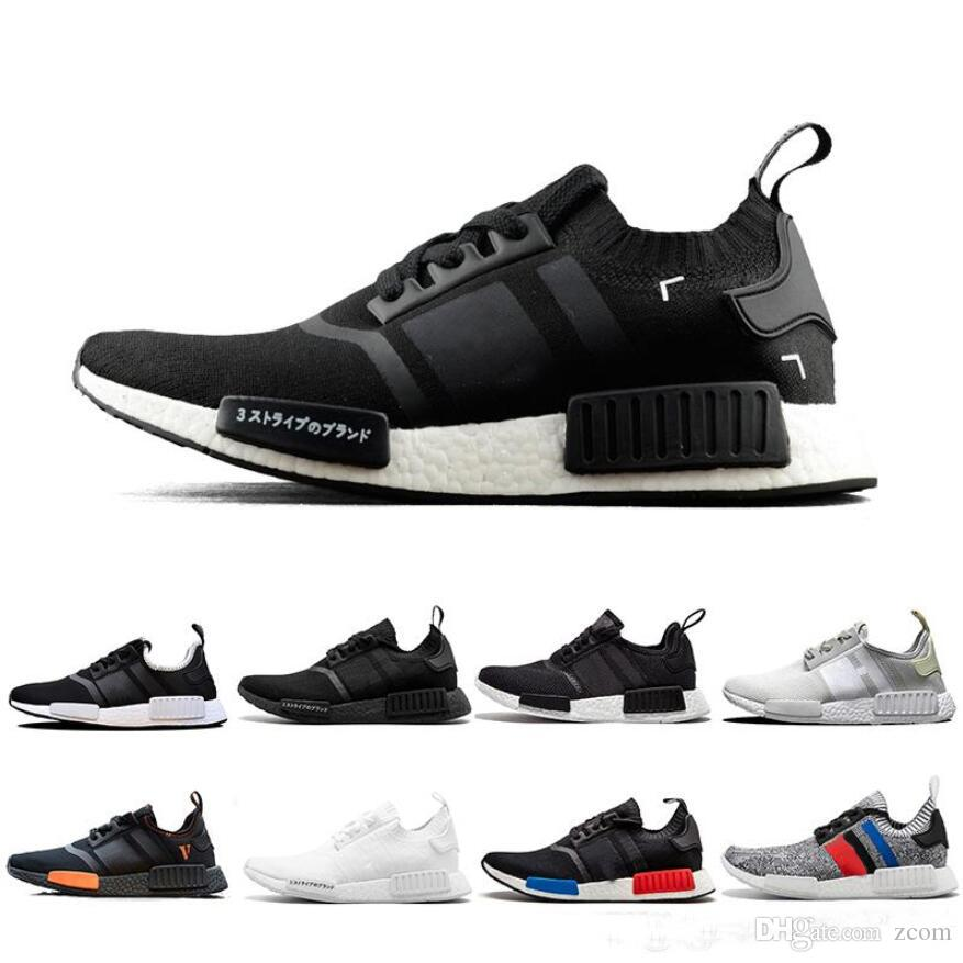 2a8fa4333 Cheap NMD R1 OREO Runner Beige PK Primeknit OG Japanese Triple Black White  Camo Running Shoes Men Women Trainer Runner Sports Sneakers 36 45 Boys  Running ...