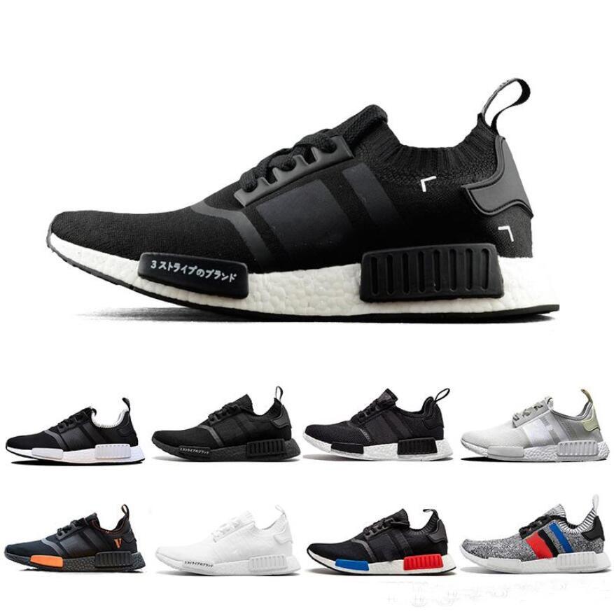 Ucuz NMD R1 OREO Kosucu Bej PK Primeknit OG Japon Üçlü siyah Beyaz camo Kosu ayakkabilari Erkek Kadin egitmen Kosucu Spor Sneakers 36 45