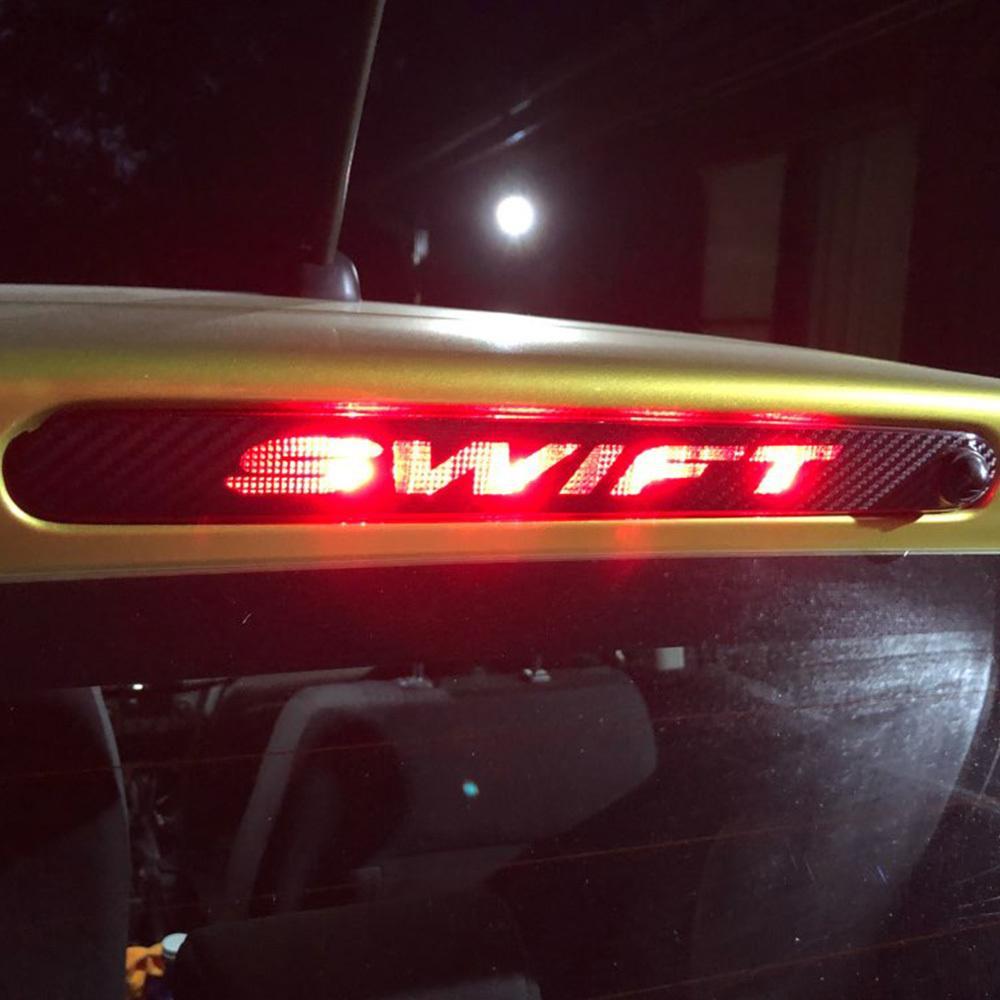 For Suzuki Swift Additional Brake Light Sticker Styling Carbon Fiber Brake Light Sticker Car Decorative Cover Car Accessories
