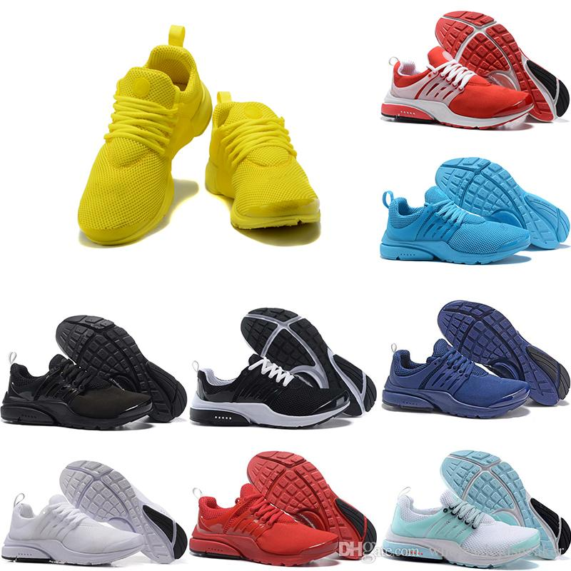 reputable site 2189f a857f Prestos 5 V Running Shoes Men Women 2018 Presto Ultra BR QS Yellow Pink  Black Oreo Outdoor Sports Fashion Jogging Sneakers Mens Trail Running Shoes  Jogging ...