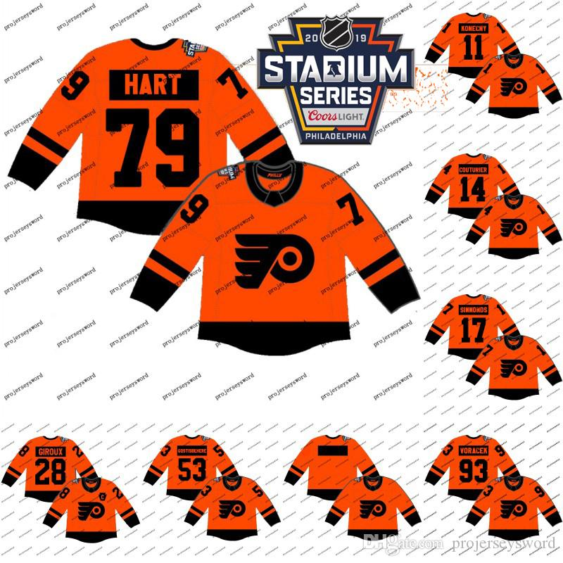 6a3d2371e 2019 2019 Stadium Series Jerseys 28 Claude Giroux 79 Carter Hart 17 Wayne  Simmonds Mens 100% Stitched Philadelphia Flyers Hockey Jerseys Cheap From  ...