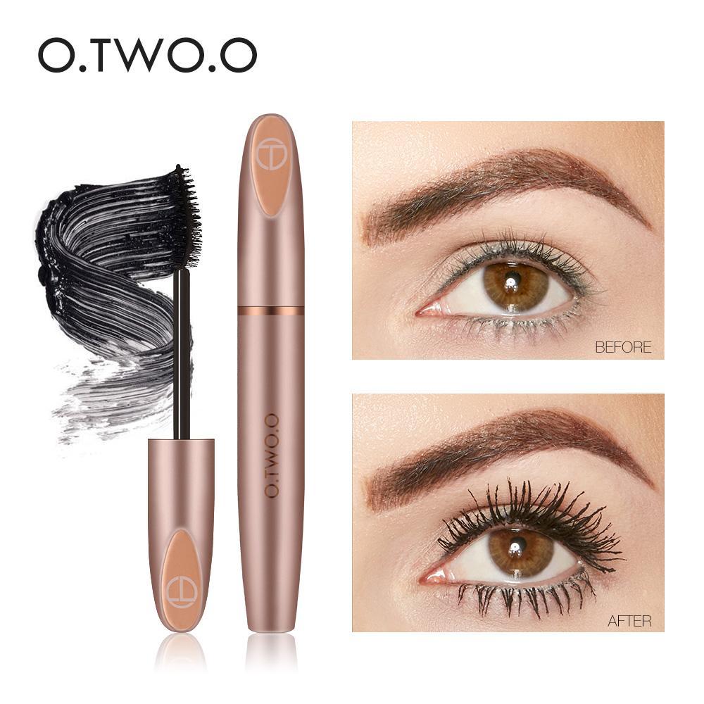 Ooo 3d Silk Fiber Eyelash Black Mascara Waterproof Long Lasting
