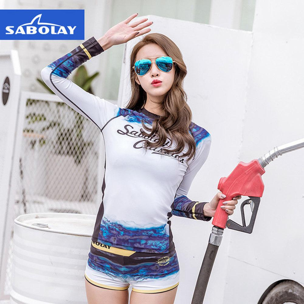 656525000b 2019 Sabolay Woman Long Sleeve Split Swimsuit Outdoor Diving Swimming Surf  Drifting Beach Water Sports Sunscreen Quick Drying Slim Sw From  Happy_sport, ...