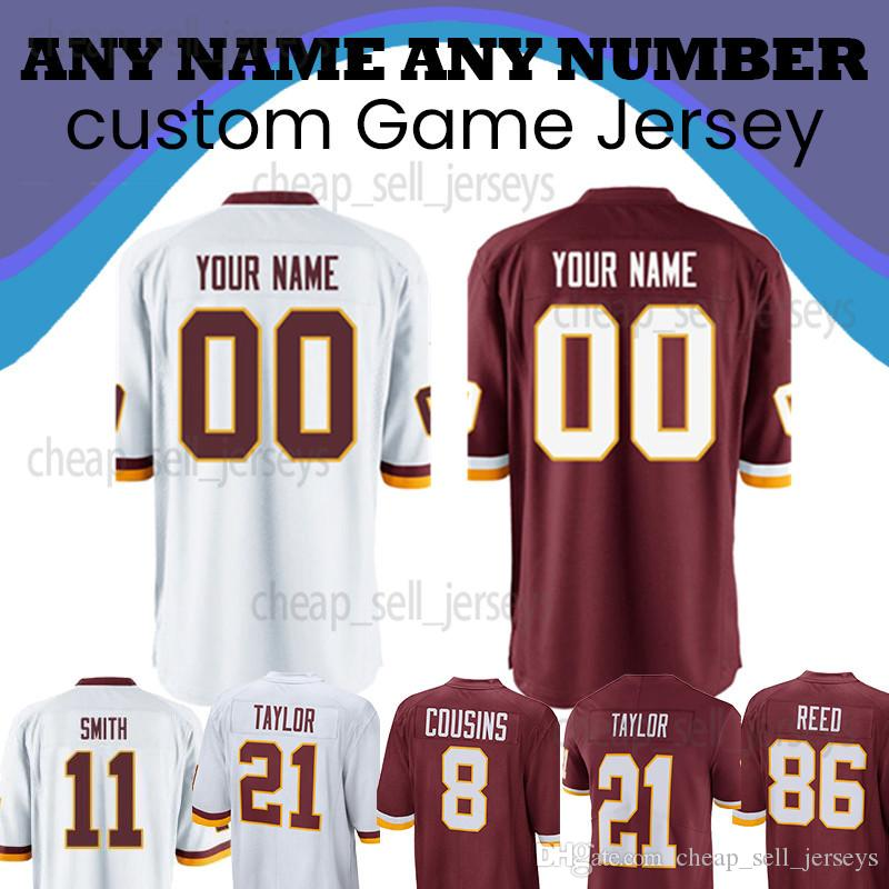 newest 5bbb2 ffa40 Customized jersey Washington jerseys 11 Alex Smith 26 Adrian Peterson  Redskins 91 Ryan Kerrigan 21 Sean Taylor 29 Guice 8 Cousins