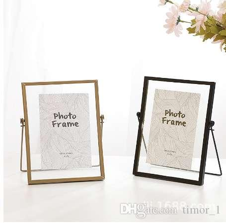 6 Inches Nordic Minimalist Modern Metal Glass Photo Frame Plant