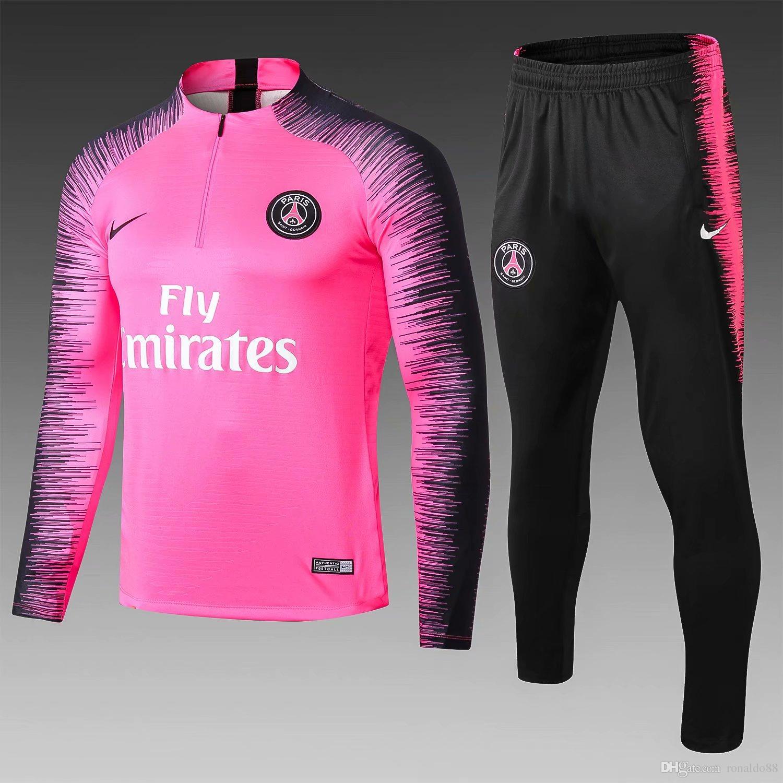 4e2fe44c0f1f 2019 2018 2019 New Psg Tracksuits VERRATTI 18 19 Paris Saint Germain Sportswear  Suit CAVANI Training Suit Soccer Jersey MBAPPE Athleisure Coat From ...